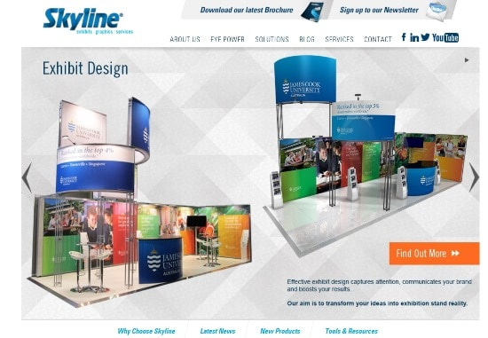 A New Look for Skyline Displays Australia Website