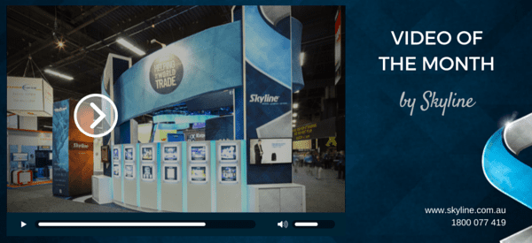Skyline Video of the Month – Display Ideas for 6×3 Metre Booth Space