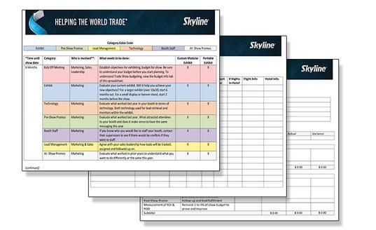 Skyline Trade Show Tips Timeline