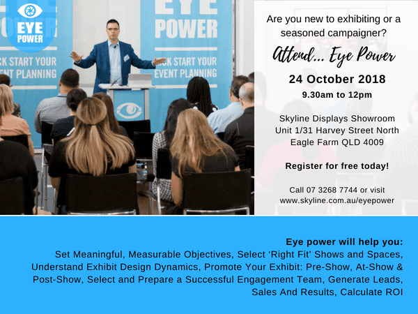 New to Exhibiting or a Seasoned Campaigner, Attend Eye Power!