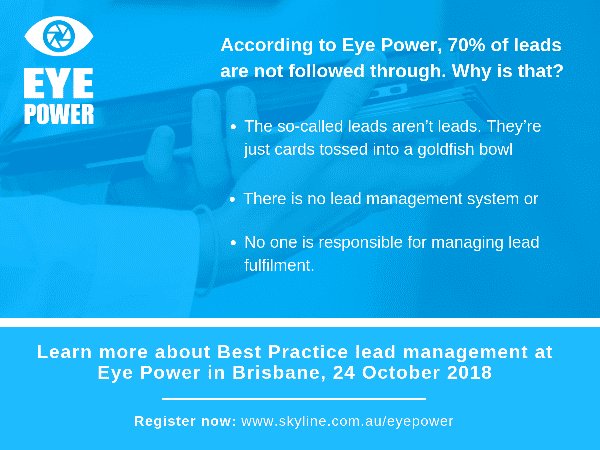 #FactFriday – According to Eye Power, 70% of Leads are not Followed Through. Why is That?