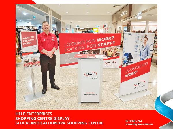 Help Enterprises Shopping Centre Display at Stockland Caloundra Shopping Centre
