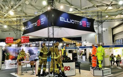 Elliotts Best Display Stand with Hanging Structure