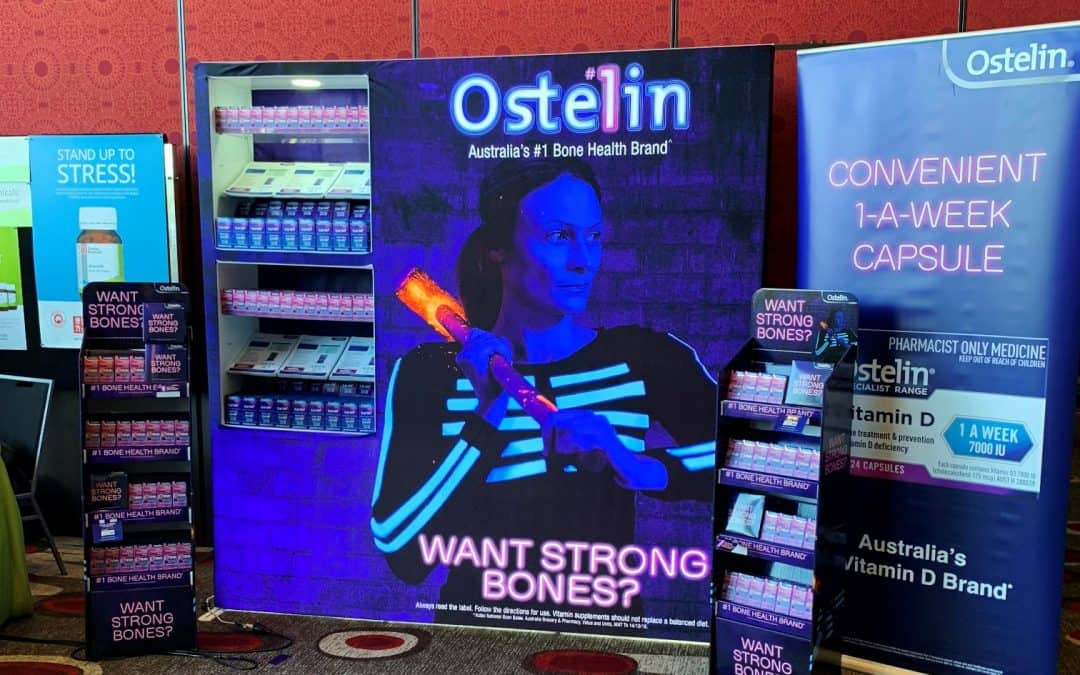 Sanofi and Ostelin Trade Show Display at Melbourne Event