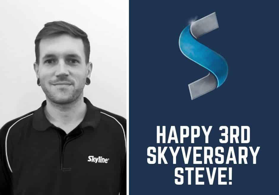 Happy 3rd Skyversary Steve!