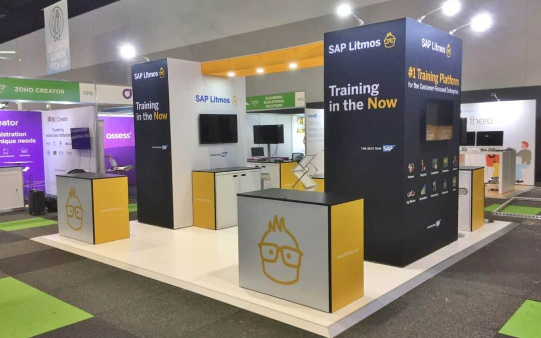 SAP Litmos Immerse Display Stand at EduTECH 2019