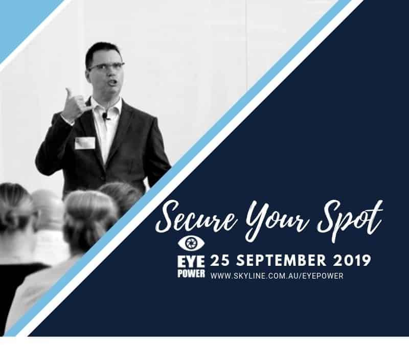 Time is Ticking – Secure Your Spot at Eye Power!