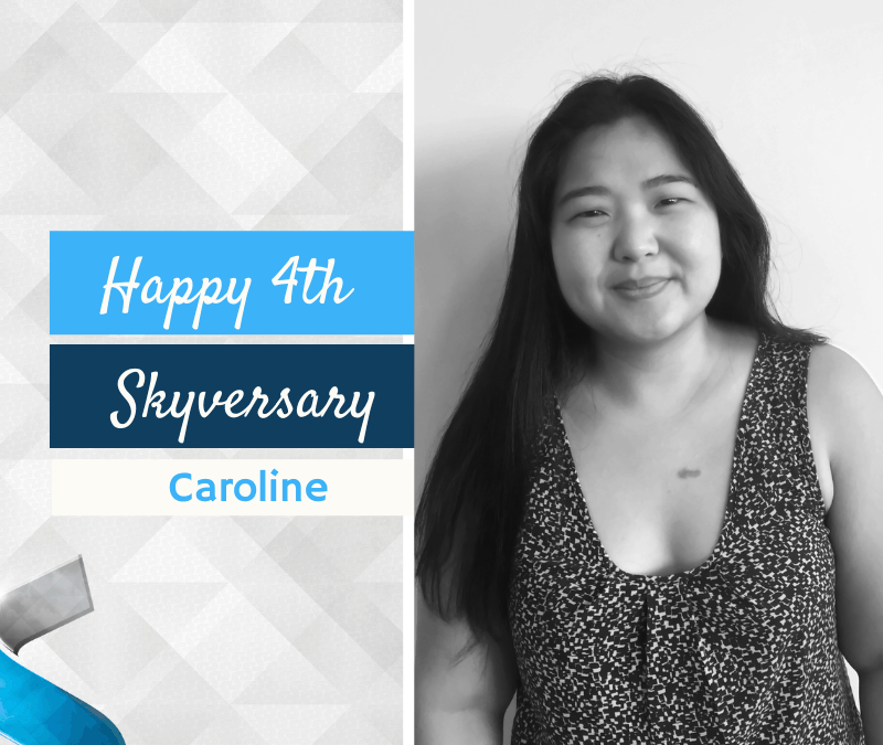 Happy 4th Skyversary Caroline!