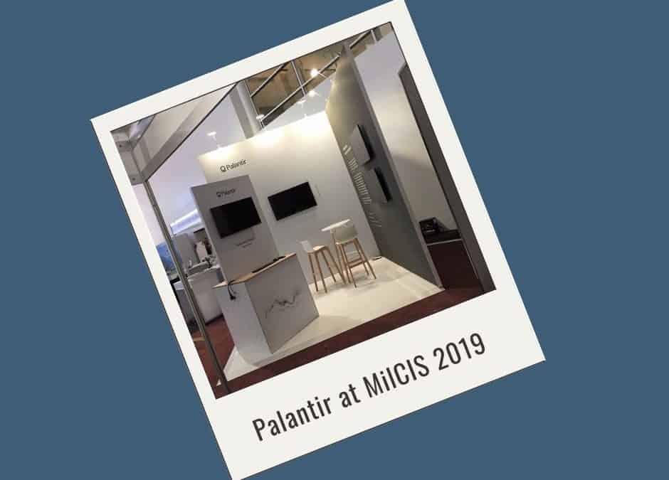 Palantir at MilCIS 2019