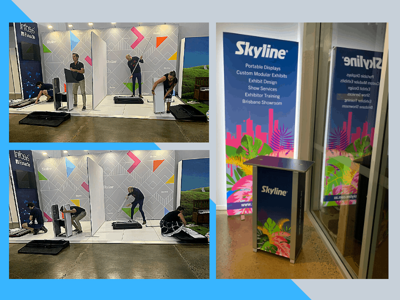 Skyline Team Training for LightSpace and Transaction Table Portable Displays