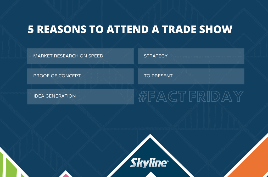 #FactFriday – Five Reasons to Attend a Trade Show