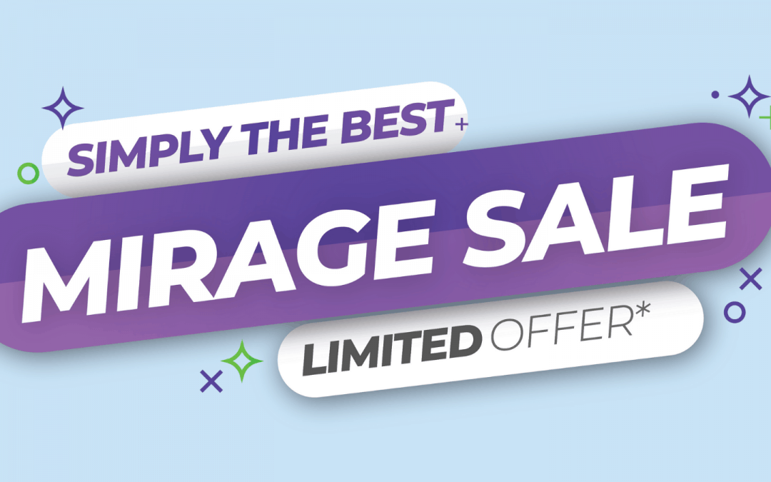 Simply the Best Pop-Up Display – Mirage Sale